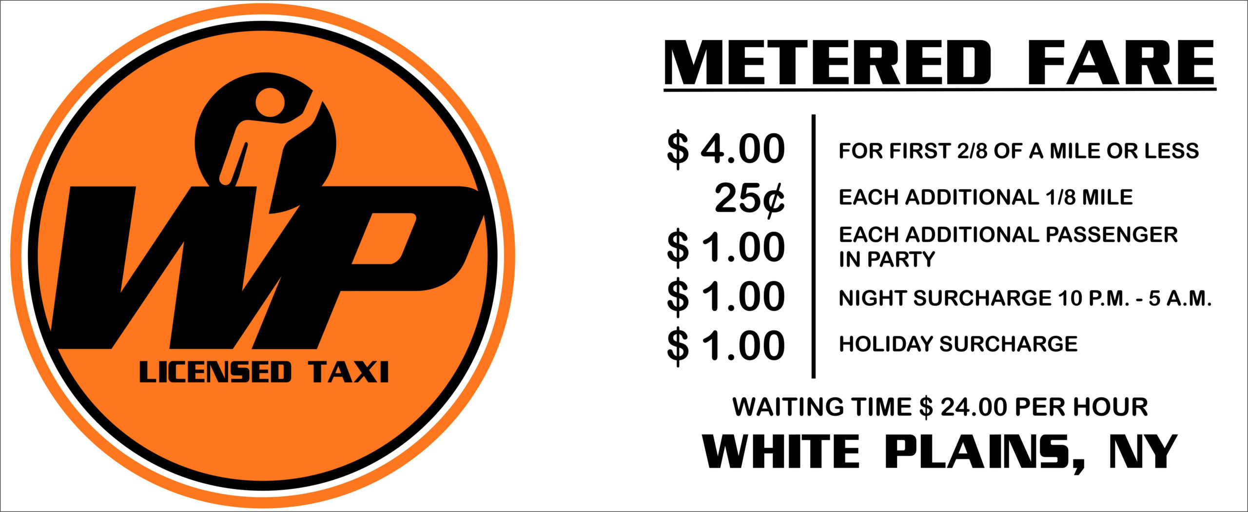 WP Taxi Metered Fare